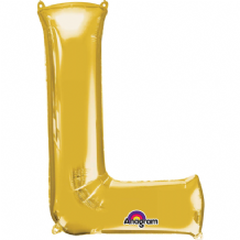 "Gold Letter L Balloon - Gold Letter Balloon (34"")"